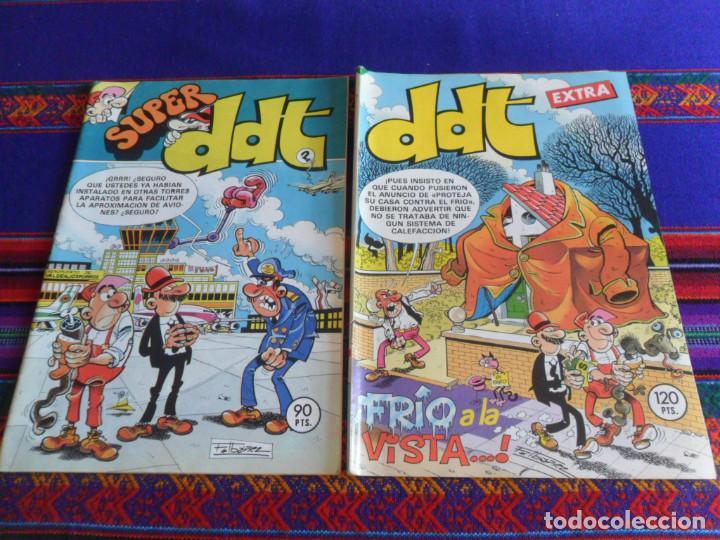 SUPER DDT Nº 126. BRUGUERA 1983. 90 PTS. REGALO DDT EXTRA Nº 41 FRÍO A LA VISTA. 1983 120 PTS. BE. (Tebeos y Comics - Bruguera - DDT)