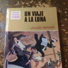 Tebeos: COLECCION HISTORIAS COLOR N° 9: UN VIAJE A LA LUNA (JULIO VERNE) (BRUGUERA). Lote 255663220