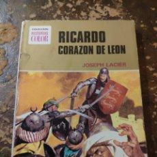 Tebeos: COLECCION HISTORIAS COLOR N° 1: RICARDO CORAZON DE LEON (JOSEPH LACIER) (BRUGUERA). Lote 255663375