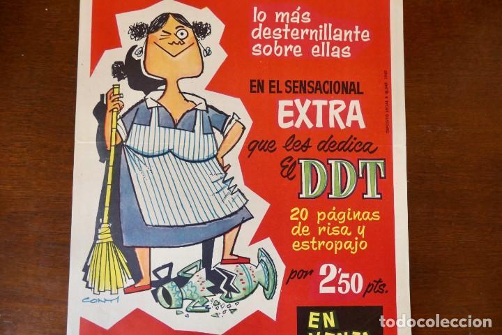 Tebeos: CARTEL PUBLICITARIO DEL EXTRA DE DDT DEDICADO A LAS CHACHAS (BRUGUERA, 1960) - Foto 3 - 256013155
