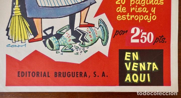 Tebeos: CARTEL PUBLICITARIO DEL EXTRA DE DDT DEDICADO A LAS CHACHAS (BRUGUERA, 1960) - Foto 4 - 256013155