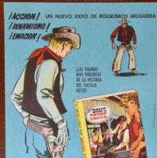 Tebeos: CARTEL PUBLICITARIO- BRAVO OESTE - 1960. Lote 256017175