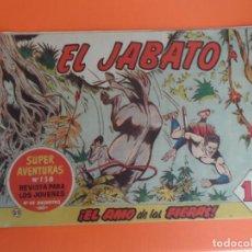 Tebeos: EL JABATO Nº 22 EDITORIAL BRUGUERA ORIGINAL. Lote 256081410