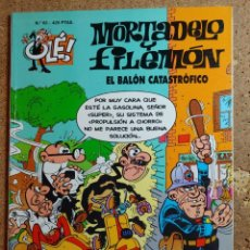 Tebeos: COMIC DE MORTADELO Y FILEMON EN EL BALON CATASTROFICO DEL AÑO 1999 Nº 63. Lote 256104355