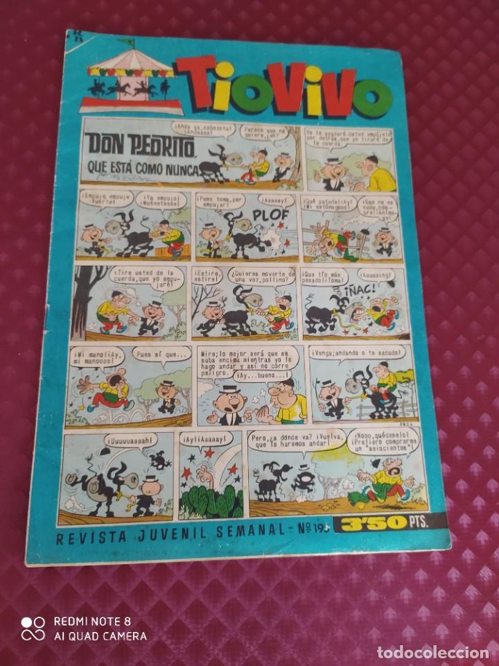 TIO VIVO 195 BRUGUERA 1964 BUEN ESTADO GENERAL (Tebeos y Comics - Bruguera - Tio Vivo)