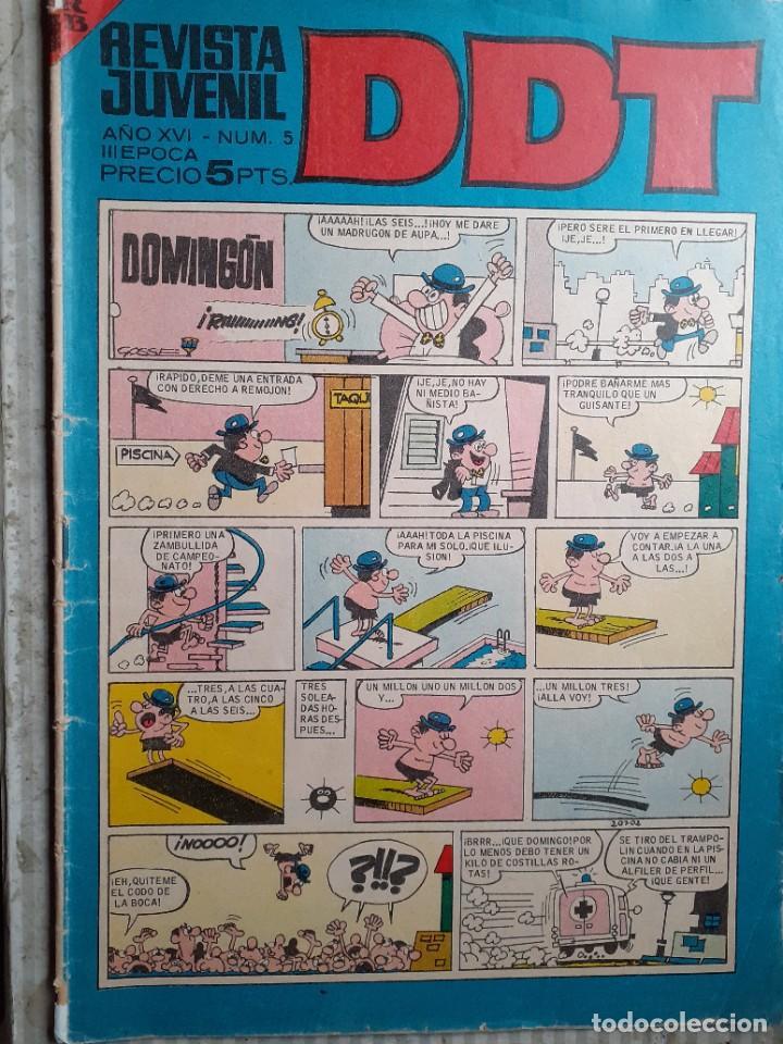 DDT -III ÉPOCA- Nº 5 -ANACLETO DE VÁZQUEZ-JIMMY BANANA DE BAYONA-1967-MUY ESCASO-CORRECTO-LEA-4624 (Tebeos y Comics - Bruguera - DDT)