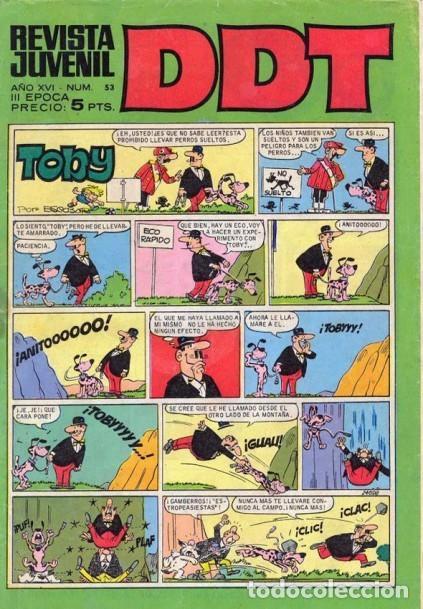 DDT-III ÉPOCA- Nº 53 -ENTREVISTA A JEAN GIRAUD-ASTÉRIX-1968-ESCANDELL-ANACLETO-DIFÍCIL-LEA-4625 (Tebeos y Comics - Bruguera - DDT)
