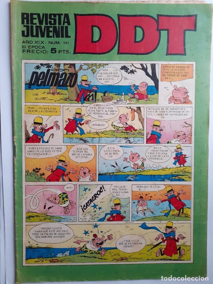Tebeos: DDT -III ÉPOCA- Nº 145 -CEBOLLETA-ASPIRINO-DON PELMAZO-DOMINGÓN-1970-CORRECTO-DIFÍCIL-LEA-4626 - Foto 2 - 257691570