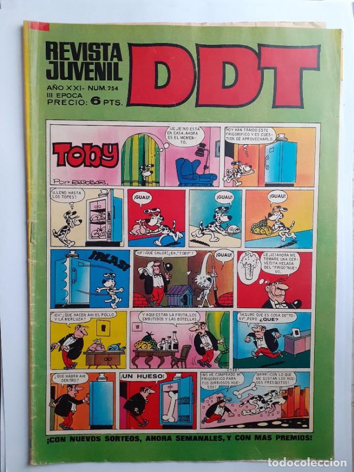 Tebeos: DDT -III ÉPOCA- Nº 254 -SEÑORITA ANA-ASPIRINO-DON PELMAZO-MUSTAFÍN-SIN MORTADELOS-1972-DIFÍCIL-4627 - Foto 2 - 257697480