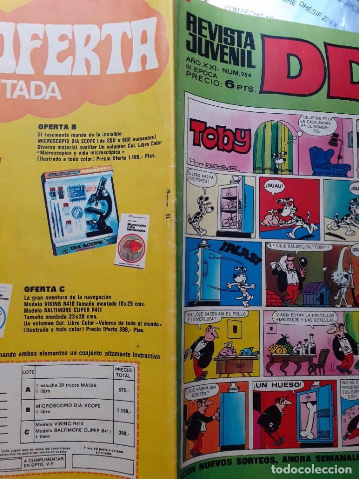 Tebeos: DDT -III ÉPOCA- Nº 254 -SEÑORITA ANA-ASPIRINO-DON PELMAZO-MUSTAFÍN-SIN MORTADELOS-1972-DIFÍCIL-4627 - Foto 3 - 257697480