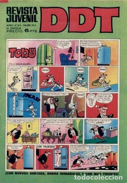 DDT -III ÉPOCA- Nº 254 -SEÑORITA ANA-ASPIRINO-DON PELMAZO-MUSTAFÍN-SIN MORTADELOS-1972-DIFÍCIL-4627 (Tebeos y Comics - Bruguera - DDT)