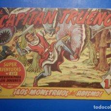 Livros de Banda Desenhada: COMIC - EL CAPITAN TRUENO NÚMERO, Nº 168 ¡ LOS MONSTRUOS DEL ABISMO! - BRUGUERA 21-12-1959, ORIGINAL. Lote 258816945