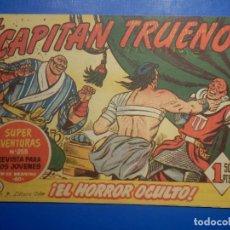 Livros de Banda Desenhada: COMIC - EL CAPITAN TRUENO NÚMERO, Nº 176 ¡EL HORROR OCULTO! - BRUGUERA 15-2-1960, ORIGINAL. Lote 258817105