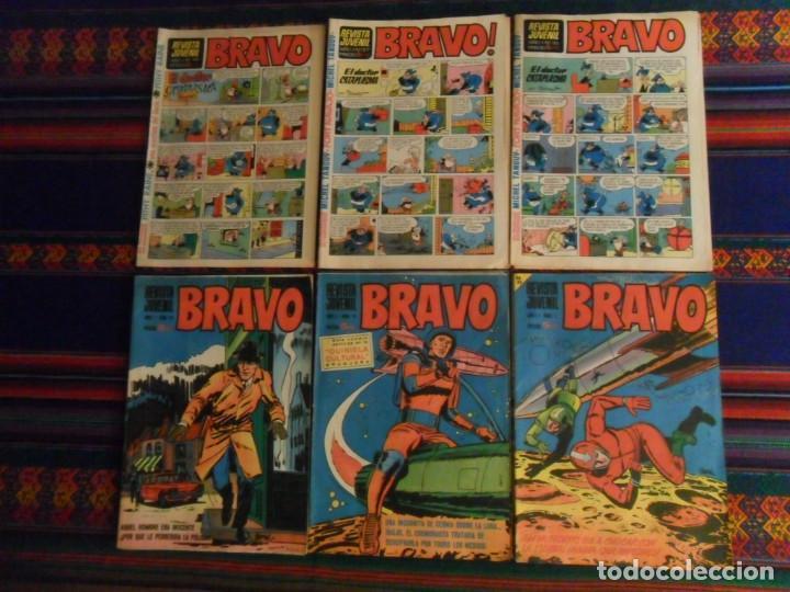 LOTE 15 BRAVO ENTRE NºS 1 5 Y 34 35 36 37 38 39 41 46 Y ÚLTIMO. BRUGUERA 1968. 5 PTS. BUEN ESTADO. (Tebeos y Comics - Bruguera - Bravo)