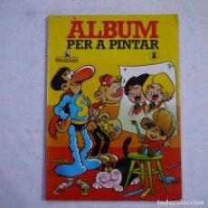 Giornalini: ALBUM PER A PINTAR 2 - IBAÑEZ, ESCOBAR, JAN - BRUGUERA - ABRIL 1985 - 1.ª EDICION - EN CATALAN. Lote 261280400