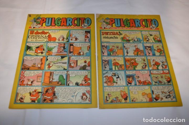 Tebeos: PULGARCITO 3 Pts. / 10 Ejemplares variados / Años 60 - XLII y XLIII - Con El Inspector DAN / Lote 02 - Foto 2 - 261677940
