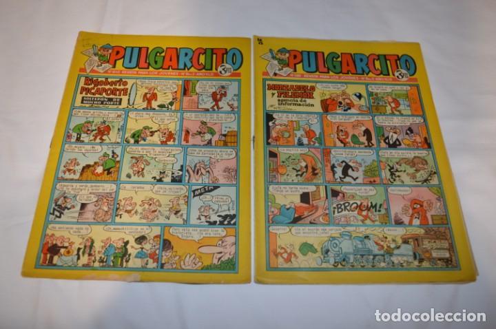 Tebeos: PULGARCITO 3 Pts. / 10 Ejemplares variados / Años 60 - XLII y XLIII - Con El Inspector DAN / Lote 02 - Foto 4 - 261677940