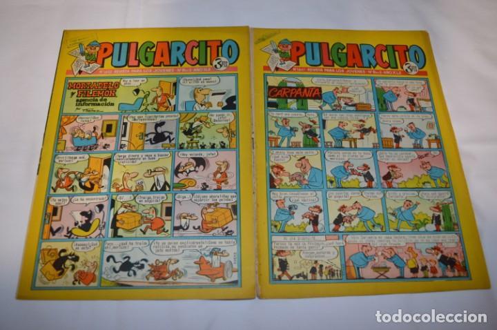 Tebeos: PULGARCITO 3 Pts. / 10 Ejemplares variados / Años 60 - XLII y XLIII - Con El Inspector DAN / Lote 02 - Foto 6 - 261677940