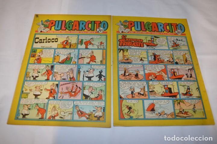 Tebeos: PULGARCITO 3 Pts. / 10 Ejemplares variados / Años 60 - XLII y XLIII - Con El Inspector DAN / Lote 02 - Foto 8 - 261677940