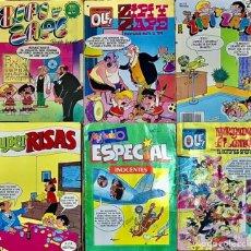 Tebeos: LOTE 10 COMICS REVISTA ZIPI ZAPE MORTADELO FILEMON SUPER RISAS JAIMITO COLECCION OLE TEBEO ESPECIAL. Lote 199362666
