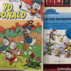 Tebeos: LOTE 4 LIBROS WALT DISNEY DONALDO EL FURIOSO MOSQUETEROS BRUGUERA 1972 - BIBLIOTECA JOVENES CASTORES. Lote 219123390