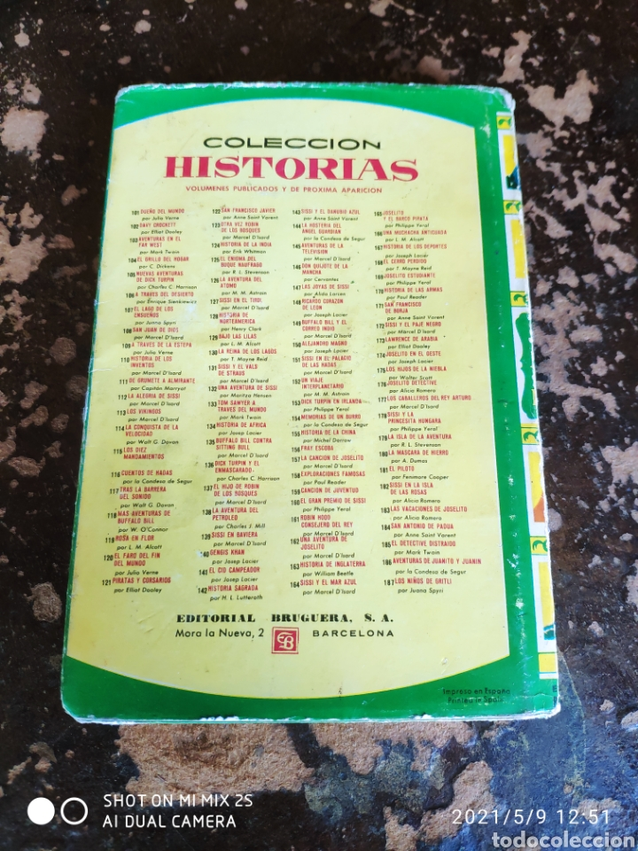 Tebeos: COLECCION HISTORIAS N° 33: LAS MIL Y UNA NOCHES (ED. BRUGUERA) - Foto 2 - 262050525