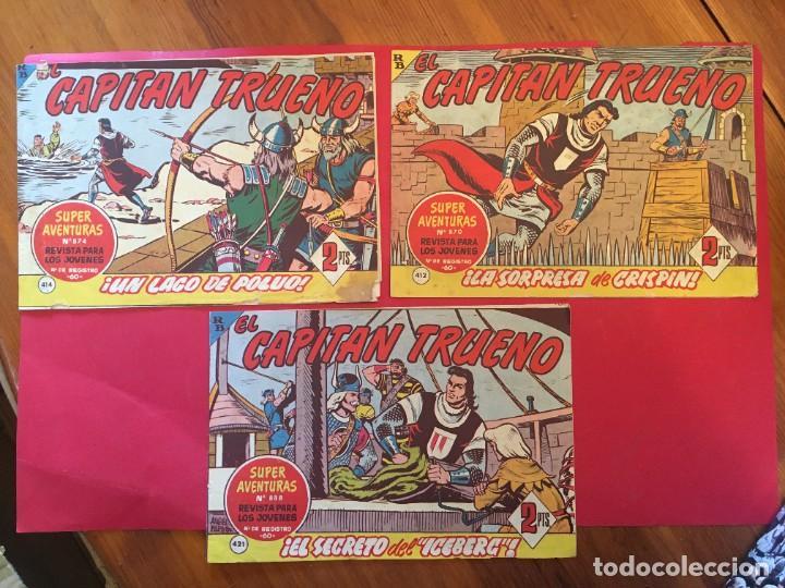 COMIC EL CAPITAN TRUENO Nº 412 -414 -421 - (Tebeos y Comics - Bruguera - Capitán Trueno)