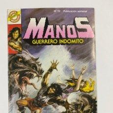 Tebeos: MANOS. GUERRERO INDOMITO. Nº 19.- TORRENTE MALDITO. COMICS BRUGUERA. Lote 262437440