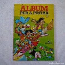 Giornalini: ALBUM PER A PINTAR 1 - IBAÑEZ, ESCOBAR, JAN - BRUGUERA - ABR. 1985 - 1.ª EDICION - CATALAN. Lote 262464335