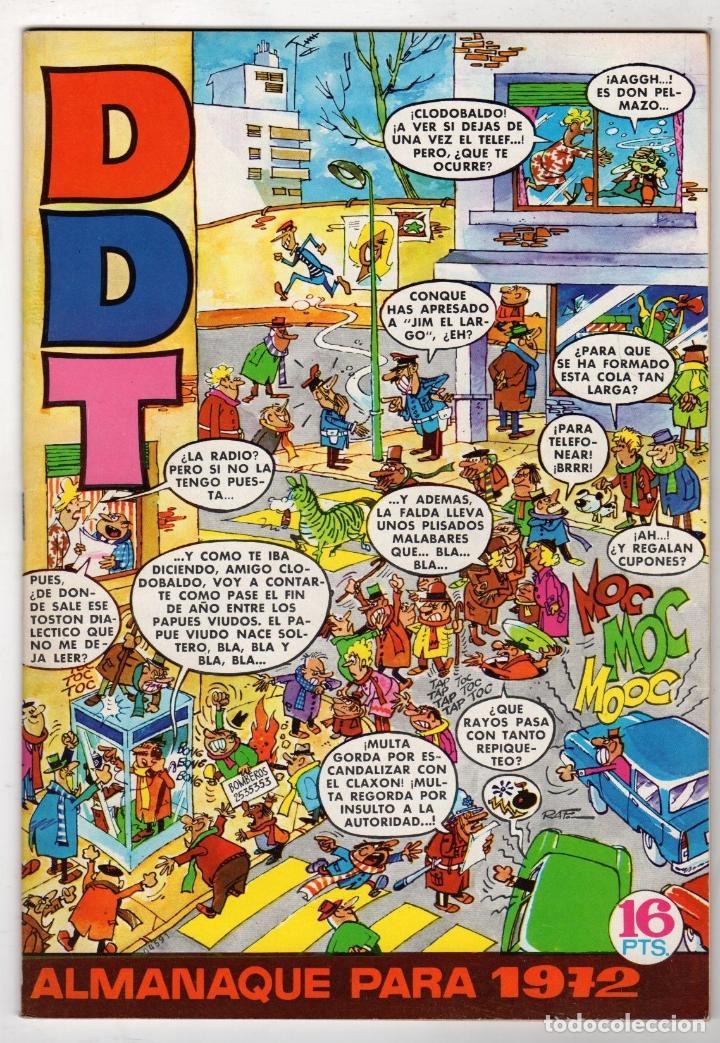 DDT ALMANAQUE PARA 1972 (Tebeos y Comics - Bruguera - DDT)