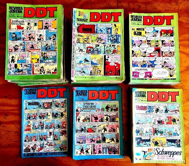 D.D.T. (BRUGUERA, 1967-1972) DEL NÚMERO 0 AL 275 A FALTA DE 4 NÚMEROS. TOTAL: 272 EJEMPLARES. (Tebeos y Comics - Bruguera - DDT)