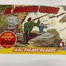 Tebeos: EL COSACO VERDE. Nº 101.- ¡LOS TIGRES ALADOS!. EDITORIAL BRUGUERA. Lote 262597075