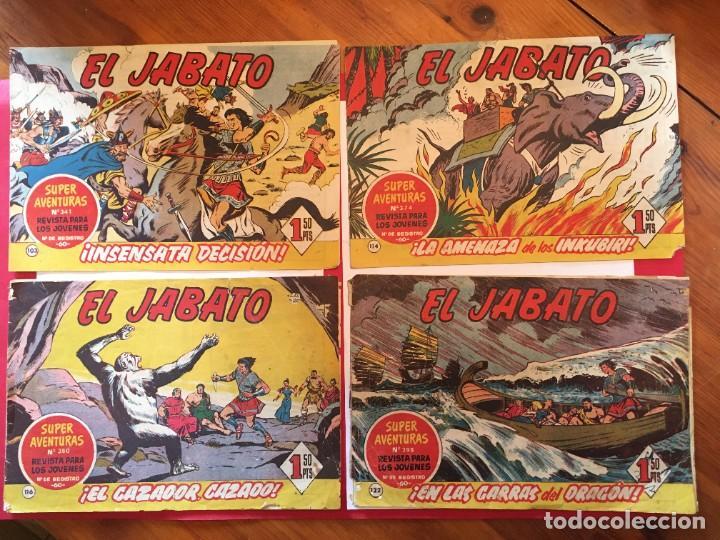COMIC EL JABATO SUPER AVENTURAS Nº 103 - 114 - 116 -122 - (Tebeos y Comics - Bruguera - Jabato)