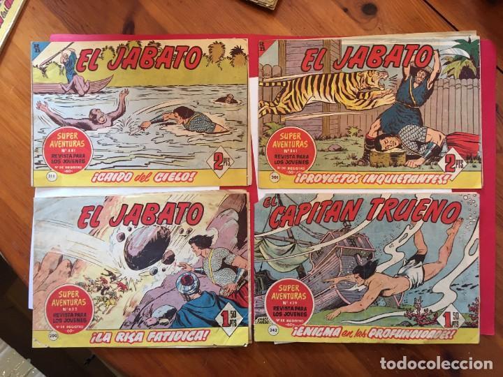 COMIC EL JABATO SUPER AVENTURAS Nº 200 -242 - 301 -311 - (Tebeos y Comics - Bruguera - Jabato)