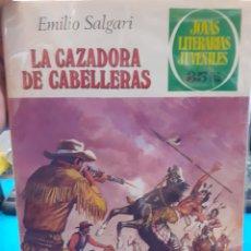 Tebeos: LA CAZADORA DE CABELLERAS. EMILIO SALGARI. JOYAS LITERARIAS JUVENILES N°206.. Lote 262903945