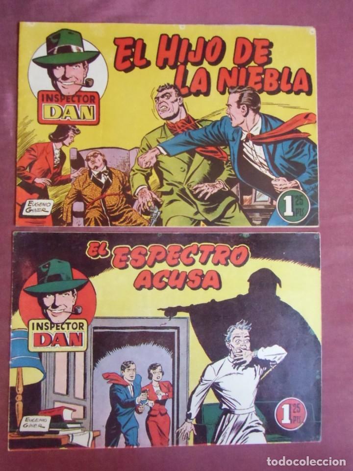 INSPECTOR DAN. BRUGUERA,NUMEROS 13-29.1952. (Tebeos y Comics - Bruguera - Inspector Dan)