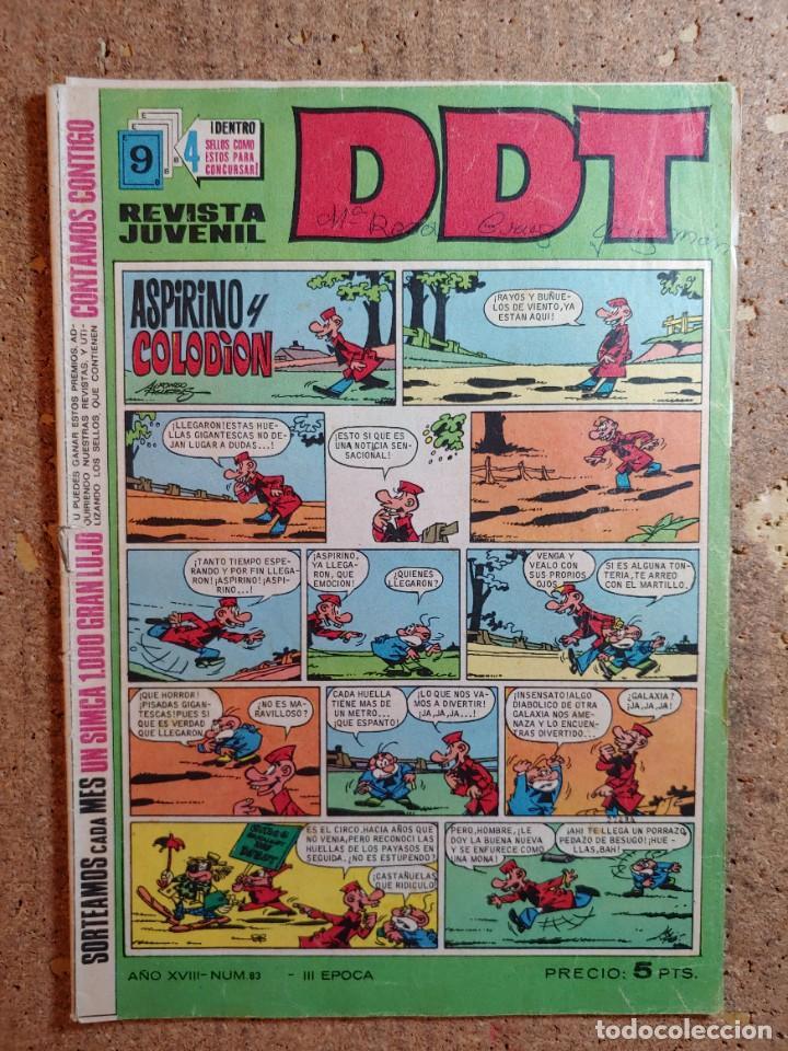 COMIC DE DDT DEL AÑO XVIII Nº 83 (Tebeos y Comics - Bruguera - DDT)