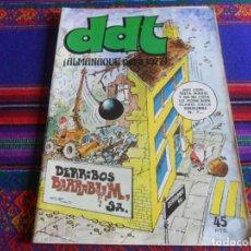 Tebeos: DDT ALMANAQUE 1977. BRUGUERA 45 PTS. MUY DIFÍCIL!!!!!!!!!!. Lote 33048403