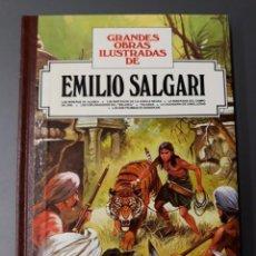 Tebeos: GRANDES OBRAS ILUSTRADAS DE EMILIO SALGARI BRUGUERA. Lote 263051210