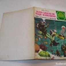 Tebeos: JOYAS LITERARIAS JUVENILES Nº 4.20000 LEGUAS DE VIAJE SUBMARINO CONTRAPORTADA BLANCA MUY BUEN ESTADO. Lote 263209115