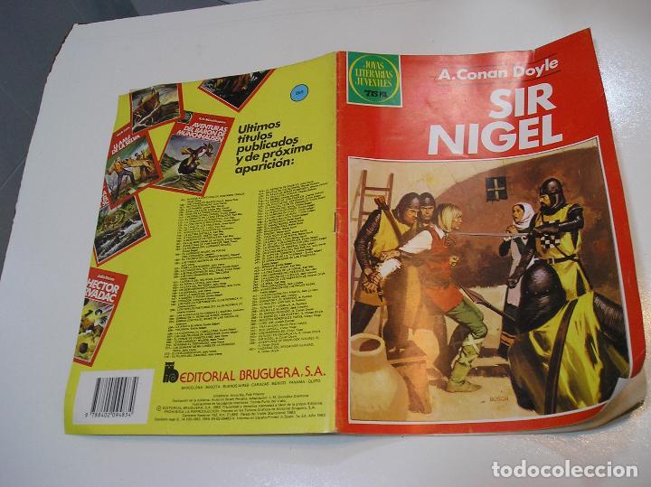 JOYAS LITERARIAS JUVENILES Nº 265 SIR NIGEL 1ª EDICION MUY BUEN ESTADO (Tebeos y Comics - Bruguera - Joyas Literarias)