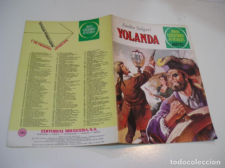 JOYAS LITERARIAS JUVENILES Nº 205 YOLANDA 1ª EDICION ,MUY BUEN ESTADO (Tebeos y Comics - Bruguera - Joyas Literarias)