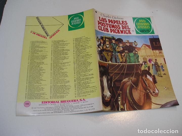 JOYAS LITERARIAS JUVENILES Nº 199 LOS PAPELES POSTUMOS DEL CLUB 1ª EDICION ,MUY BUEN ESTADO (Tebeos y Comics - Bruguera - Joyas Literarias)