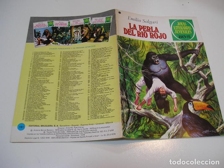 JOYAS LITERARIAS JUVENILES Nº 191 LA PERLA DE RIO ROJO 1ª EDICION ,MUY BUEN ESTADO (Tebeos y Comics - Bruguera - Joyas Literarias)