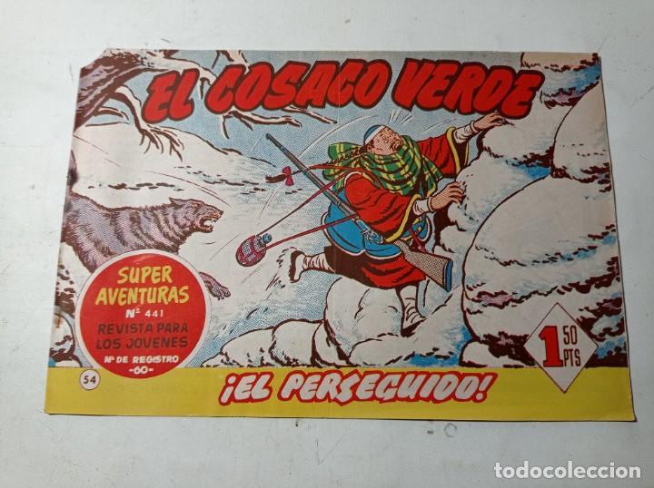 ORIGINAL NO COPIA EL COSACO VERDE 441 EL PERSEGUIDO BRUGUERA AÑO 1961 (Tebeos y Comics - Bruguera - Cosaco Verde)