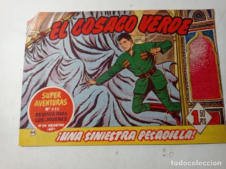 ORIGINAL NO COPIA EL COSACO VERDE 423 UNA SINIESTRA PESADILLA BRUGUERA 1961 (Tebeos y Comics - Bruguera - Cosaco Verde)