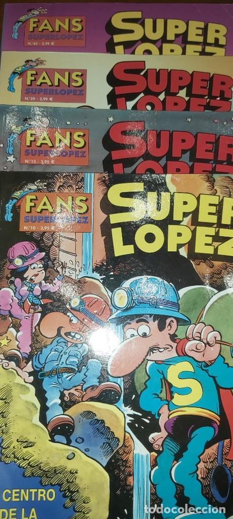 LOTE 14 SUPERLOPEZ. SUPER LOPEZ 9 23 24 25 26 27 34 35 36 37 Y FANS 10 13 39 40 (Tebeos y Comics - Bruguera - Ole)