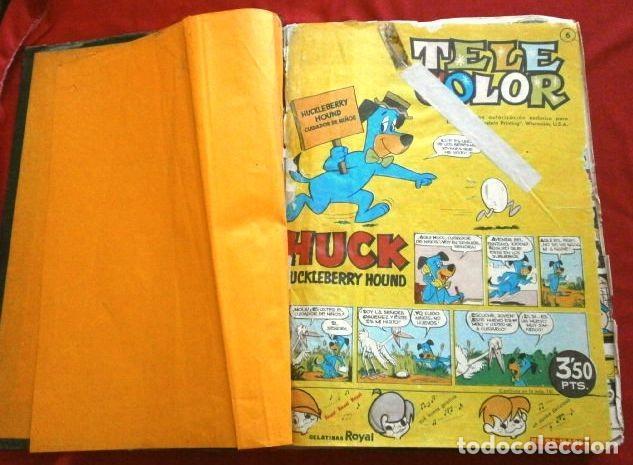 Tebeos: TELE COLOR Original (años 60) 32 TEBEOS ENCUADERNADOS en un Tomo - Entre el Nº 6 y 52 - Bruguera - Foto 3 - 264197568