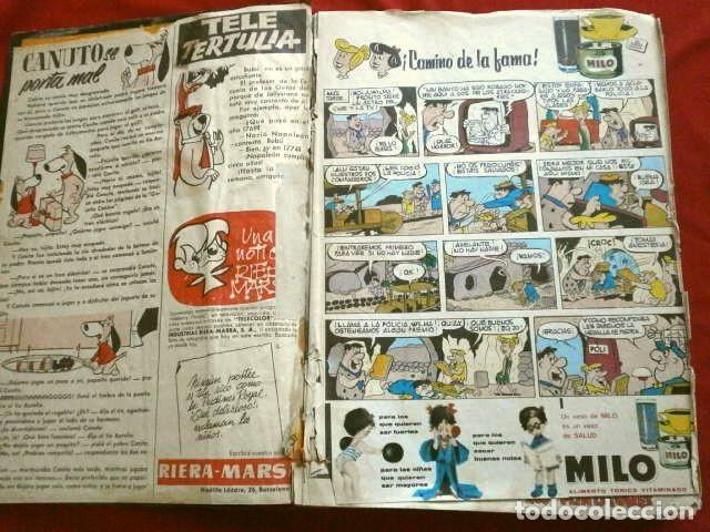 Tebeos: TELE COLOR Original (años 60) 32 TEBEOS ENCUADERNADOS en un Tomo - Entre el Nº 6 y 52 - Bruguera - Foto 4 - 264197568