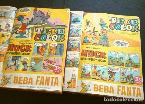 TELE COLOR ORIGINAL DOS TOMOS (AÑOS 60) 46 TEBEOS ENCUADERNADOS - DEL Nº 78 A 124 - BRUGUERA (Tebeos y Comics - Bruguera - Tele Color)